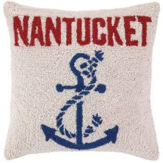 Anchored at Nantucket Hook Pillow
