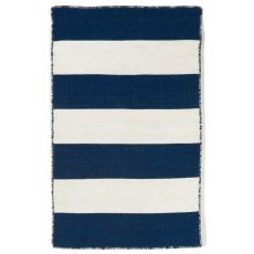 "Liora Manne Sorrento Rugby Stripe Indoor/Outdoor Rug - Navy, 24"" By 36"""