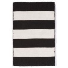 "Rugby Stripe Black Rug 24"" X 36"""