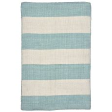 Liora Manne Sorrento Rugby Stripe Indoor/Outdoor Rug Blue
