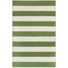 "Liora Manne Sorrento Rugby Stripe Indoor/Outdoor Rug Green 7'6""X9'6"""