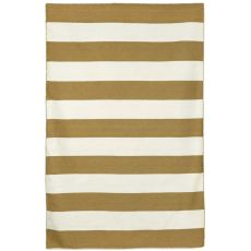 "Liora Manne Sorrento Rugby Stripe Indoor/Outdoor Rug - Khaki, 8'3"" by 11'6"""