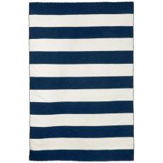 "Liora Manne Sorrento Rugby Stripe Indoor/Outdoor Rug - Navy, 8'3"" By 11'6"""