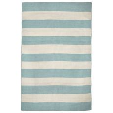 Liora Manne Sorrento Rugby Stripe Indoor/Outdoor Rug - Blue, 5' by 7'6""