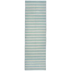 "Liora Manne Sorrento Pinstripe Indoor/Outdoor Rug - Blue, 24"" by 8'"