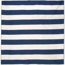 Liora Manne Sorrento Rugby Stripe Indoor/Outdoor Rug - Navy, 8' By 8'