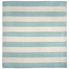 Liora Manne Sorrento Rugby Stripe Indoor/Outdoor Rug - Blue, 8' by 8'