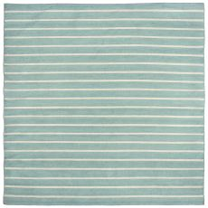 Liora Manne Sorrento Pinstripe Indoor/Outdoor Rug - Blue, 8' by 8'