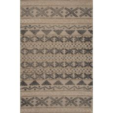 Contemporary Tribal Pattern Gray Wool Area Rug (8X11)