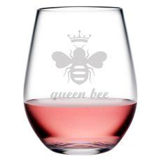 Queen Bee Tritan Stemless Tumblers, S/4