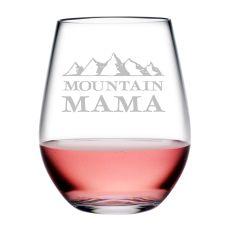 Mountain Mama Tritan Stemless Wine Tumblers, S/4
