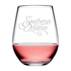 Southern Mama Tritan Stemless Wine Tumblers, S/4
