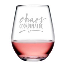 Chaos Coordinator Tritan Stemless Wine Tumblers, S/4