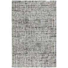"Liora Manne Savannah Grid Indoor Rug Charcoal 5'X7'6"""