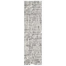 "Liora Manne Savannah Grid Indoor Rug Charcoal 24""X7'6"""