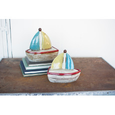 Sailboat Canisters (Set Of 2)