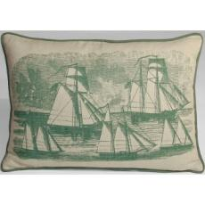 Sailboats Nautical Pillow
