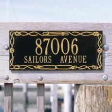 Sailor's Knot Address Plaque