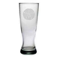 Sand Dollar Etched Grand Pilsner Glass Set
