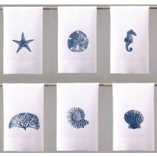 Sea Life in Blue Guest Towels (set of 6)