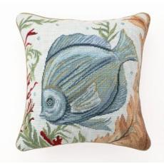 Sea Life Fish Needlepoint Pillow