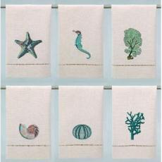 Coastal Guest Towels (set of 6)