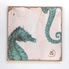 Sea Horses Zoom Lithograph Art