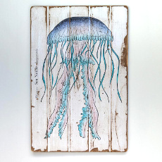 Sea Nettle Floorboard Art