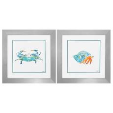 Sea Creatures Framed Art Set of 2