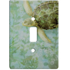 Sea Turtle Ceramic Single Switch Wall Plate