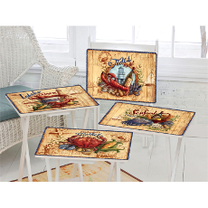 Seafood Market TV Trays with Stand