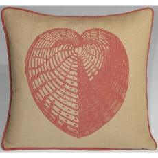 Sea Heart Linen Pillow