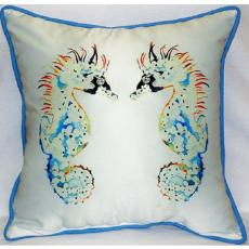 Seahorses Indoor Outdoor Pillow