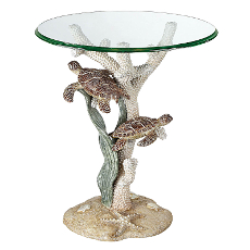 Sealife Sea Turtle Accent Table