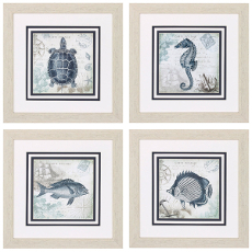 Seaside Framed Art Set of 4