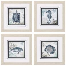 Seaside Framed Art Set of 4