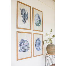 Assorted Framed Seaside Prints (set of 4)