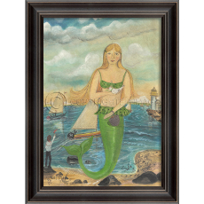 She was There To See The Race Mermaid Framed Art