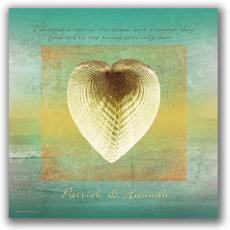 Shell Heart Personalized Art Print