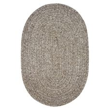 "Homespice Decor 27"" x 45"" Oval Slate Ultra Durable Braided Rug"