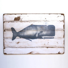 Sperm Whale Floorboard Wall Art