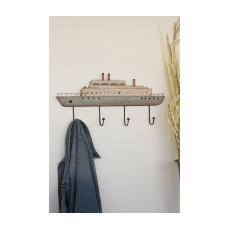 Wooden Steam Ship Coat Rack