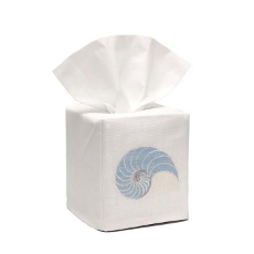 Striped Nautilus Tissue Box Cover