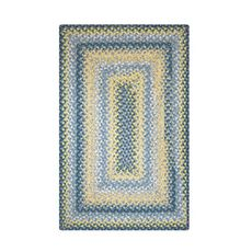 Homespice Decor 6' x 9' Rect. Sunflowers Cotton Braided Rug