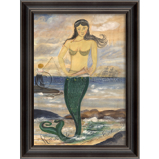 Sunrise on Esther Island Mermaid Framed Art