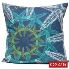 Starfish Suzani Pillow - Ocean