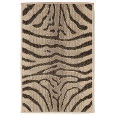 """Liora Manne Terrace Zebra Indoor/Outdoor Rug - Grey, 23"""" By 35"""""""