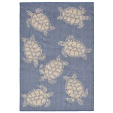 "Liora Manne Terrace Seaturtle Indoor/Outdoor Rug - Navy, 39"" By 59"""