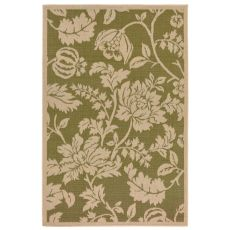 "Liora Manne Terrace Floral Indoor/Outdoor Rug - Green, 39"" by 59"""