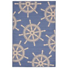 "Liora Manne Terrace Shipwheel Indoor/Outdoor Rug - Blue, 7'10"" by 9'10"""